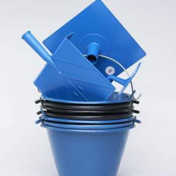 Plastic Buckets and Trowels