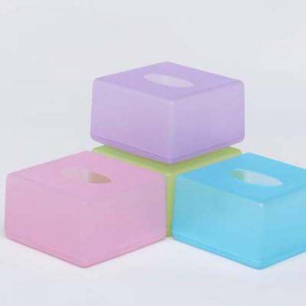 Plastic Tissue Boxes - Mixed Color